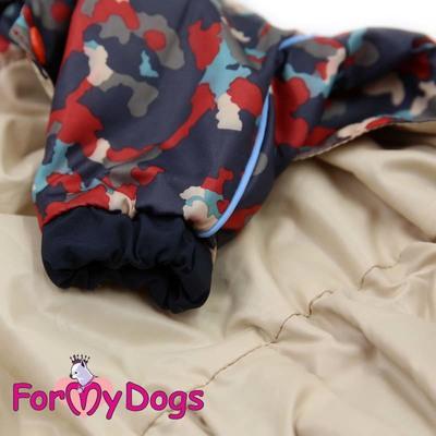 ForMyDogs Дождевик для собак красный, модель для мальчиков, размер №8 (фото, вид 1)