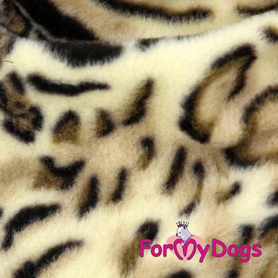 ForMyDogs Комбинезон из флиса бежевый, модель для мальчиков, размер 12, 16, 18 (фото, вид 2)