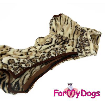 ForMyDogs Комбинезон из флиса бежевый, модель для мальчиков, размер 12, 16, 18 (фото, вид 4)