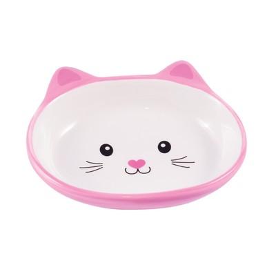 КерамикАрт Миска керамическая для кошек 160 мл Мордочка кошки (фото, вид 1)