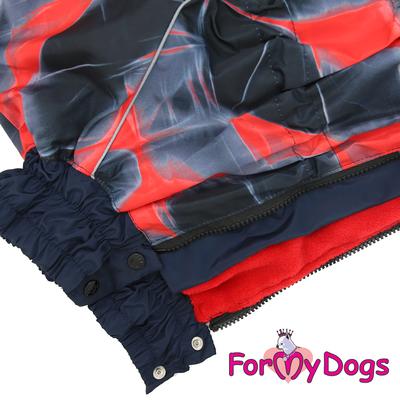 ForMyDogs Комбинезон для крупных собак красный, модель для девочек, размер С2, D1 (фото, вид 1)