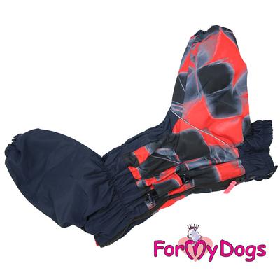 ForMyDogs Комбинезон для крупных собак красный, модель для девочек, размер С2, D1 (фото, вид 2)