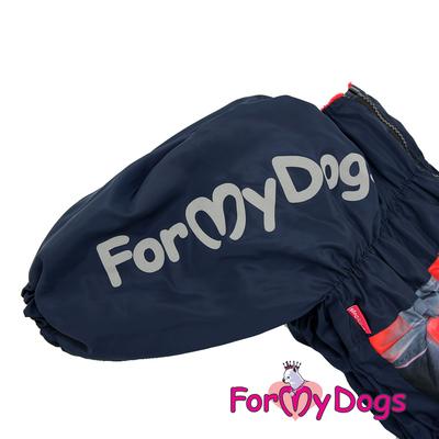ForMyDogs Комбинезон для крупных собак красный, модель для девочек, размер С2, D1 (фото, вид 3)