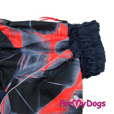 ForMyDogs Комбинезон для крупных собак красный, модель для девочек, размер С2, D1 (фото, вид 4)
