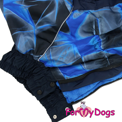 ForMyDogs Комбинезон для крупных собак синий, модель для мальчиков, размер С2 (фото, вид 1)