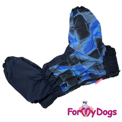 ForMyDogs Комбинезон для крупных собак синий, модель для мальчиков, размер С1, С2, D3 (фото, вид 4)