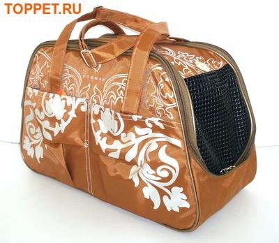 DOGMAN Сумка -переноска для собак №7 кирпичная, размер 40х19х25см. (фото, вид 3)