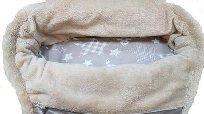P&D Сумка-переноска с мехом для собак Комфорт бежевая, 42х20х25 см (фото, вид 3)