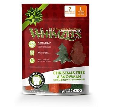 Whimzees Лакомства для собак Новогодний Микс (елочки/ снеговики), в пакете (фото, вид 2)