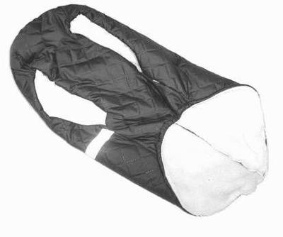 SportDog Куртка-попона меховая для крупных собак, черная, спина 65см (фото, вид 2)