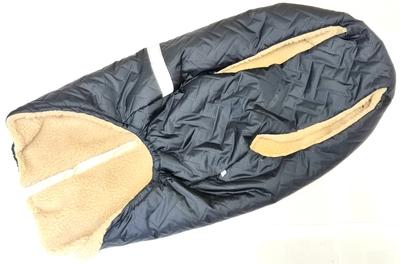 SportDog Куртка-попона меховая для крупных собак, черная, спина 58см (фото, вид 4)