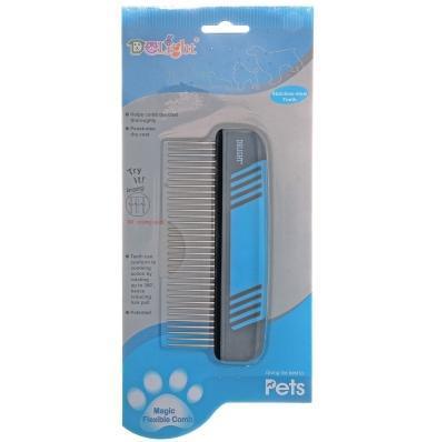 Hello Pet Расческа для собак и кошек DeLIGHT 34 плавающих зуба, 15см (фото, вид 1)