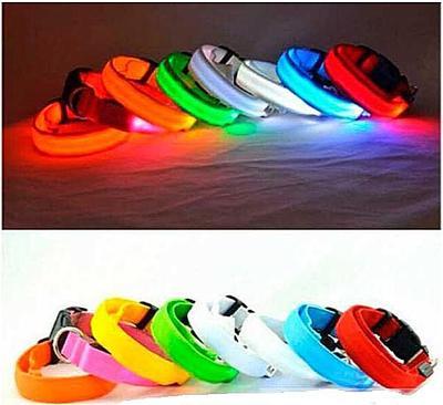 АНТ Ошейник светящийся на светодиодах Pet Collar с USB, 3 размера (фото, вид 4)