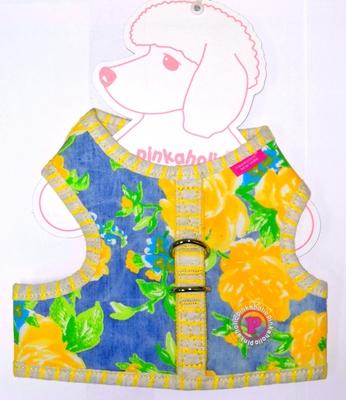 АНТ Pinkaholic Шлейка-жилетка для собак, размер M, L, желтый микс (фото, вид 1)