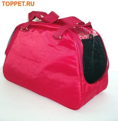 DOGMAN Сумка -переноска для собак №7 красная, размер 40х19х25см. (фото, вид 1)