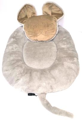 P&D Лежанка для собак и кошек из искусственного меха в форме Мышки, серая 45х44см (фото, вид 2)