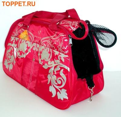 DOGMAN Сумка -переноска для собак №7 красная, размер 40х19х25см. (фото, вид 2)