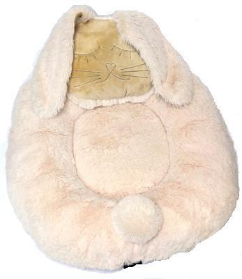 P&D Лежанка для собак и кошек из искусственного меха в форме Зайки, молочно-белая 45х44см (фото, вид 1)