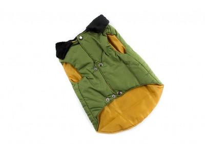 ZooAvtoritet Куртка для собак зеленая, размер XL, спина 34см (фото, вид 1)