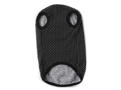 ZooAvtoritet Футболка для собак черная/горох, размер L (фото, вид 1)