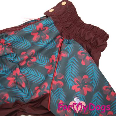 ForMyDogs Дождевик для больших собак, вишневый, модель для девочки, размер С3 (фото, вид 2)