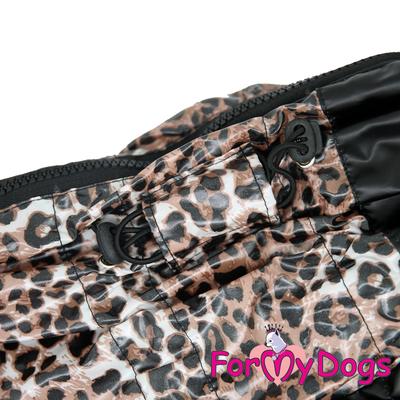 """ForMyDogs Дождевик для крупных собак """"Лео"""" черно/коричневый, модель для мальчиков, размер D2 (фото, вид 1)"""
