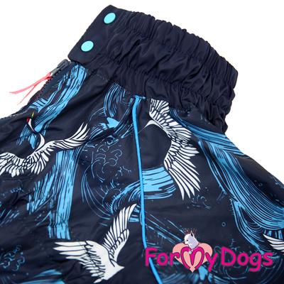 ForMyDogs Дождевик для больших собак синий, модель для мальчиков, размер С1 (фото, вид 2)