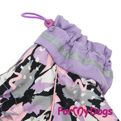 ForMyDogs Дождевик для собак сиреневый, модель для девочек, размер №22 (фото, вид 1)