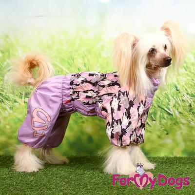 ForMyDogs Дождевик для собак сиреневый, модель для девочек, размер №22 (фото, вид 4)