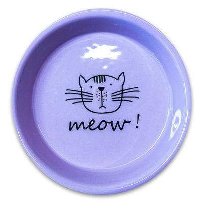 КерамикАрт Миска керамическая для кошек MEOW! 200 мл (фото, вид 1)