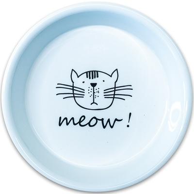 КерамикАрт Миска керамическая для кошек MEOW! 200 мл (фото, вид 3)