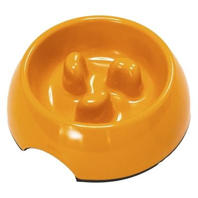 SuperDesign Миска меламиновая для медленного поедания 140 мл, оранжевая (фото, вид 1)