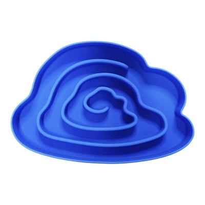 SuperDesign Миска силиконовая для медленного поедания 730 мл, синяя (фото, вид 1)