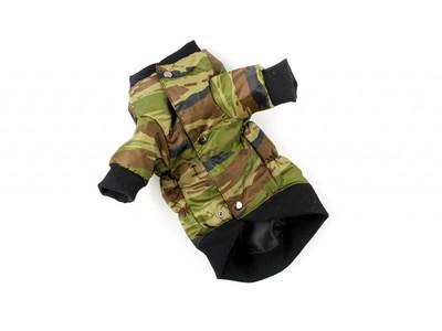 ZooPrestige Куртка для собак камуфляж зеленый, размер 3XL, спина 41-47смсм (фото, вид 1)