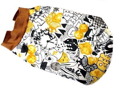 ZooAvtoritet Куртка-жилетка на синтепоне цветная, размер XL, спина 38-40см (фото, вид 1)