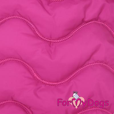 ForMyDogs Попона для такс розовая, размер ТМ1 (фото, вид 2)