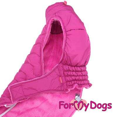 ForMyDogs Попона для такс розовая, размер ТМ1 (фото, вид 3)