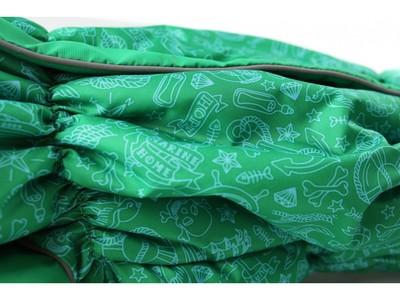 ZooPrestige Комбинезон на флисе для таксы, зеленый, размер ТБ1, спина 50см (фото, вид 1)