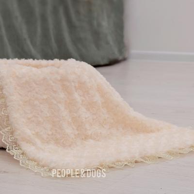 "P&D Плед для собак и кошек ""Безе"" цвет сливок, размер 50х50см (фото, вид 2)"