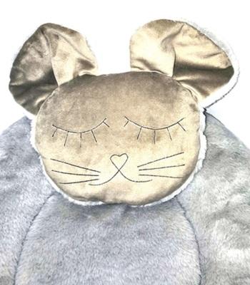 P&D Лежанка для собак и кошек из искусственного меха в форме Мышки, серая 45х44см (фото, вид 3)