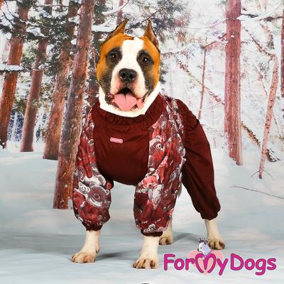 """ForMyDogs Комбинезон для больших собак """"Мишки"""" коричневый, размер С1, модель для девочек (фото, вид 1)"""