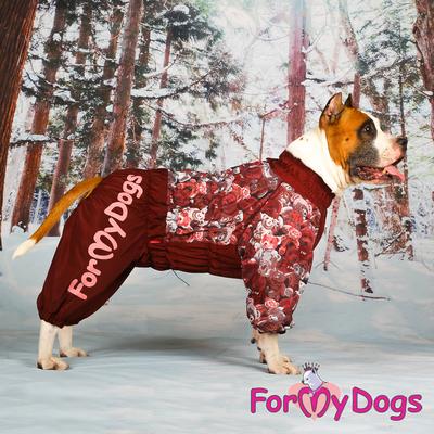 """ForMyDogs Комбинезон для больших собак """"Мишки"""" коричневый, размер С1, модель для девочек (фото, вид 2)"""
