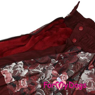 """ForMyDogs Комбинезон для больших собак """"Мишки"""" коричневый, размер С1, модель для девочек (фото, вид 3)"""