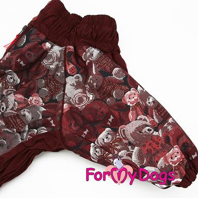 """ForMyDogs Комбинезон для больших собак """"Мишки"""" коричневый, размер С1, модель для девочек (фото, вид 4)"""