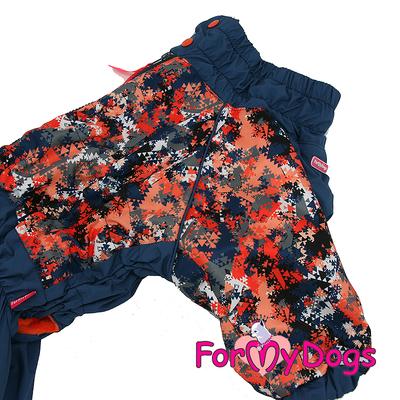 ForMyDogs Комбинезон для крупных собак сине/оранжевый, размер С2, модель для мальчиков (фото, вид 2)