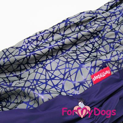ForMyDogs Комбинезон для крупных собак фиолетовый, размер D1, модель для мальчиков (фото, вид 1)