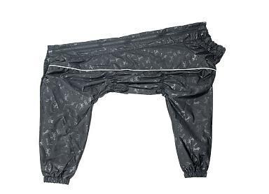 Osso Fashion Дождевик для крупных собак, модель для девочки, черный, спина 70см (фото, вид 2)