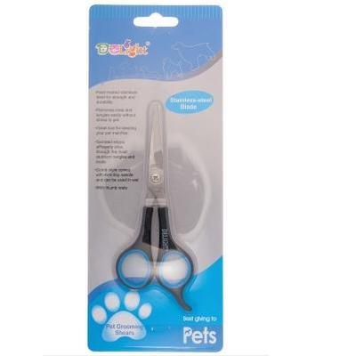 V.I.Pet Ножницы DeLIGHT 15,0 см (6), для стрижки мордочки с закругленными концами, (полотно 4,5 см) (фото, вид 1)