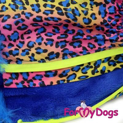 """ForMyDogs Комбинезон для такс голубой """"ЛЕО"""", размер ТМ1, ТС1, модель для мальчиков (фото, вид 1)"""