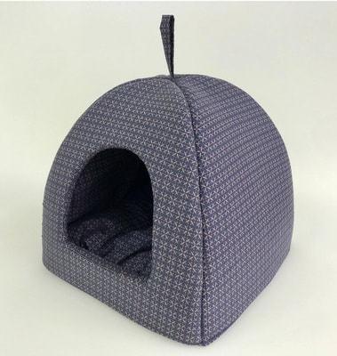 Бобровый дворик Домик лежак для кошек и собак, синий Колизей (фото, вид 1)